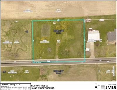 Hudson MI Residential Lots & Land For Sale: $16,500