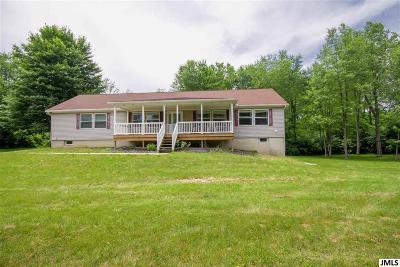 Jackson Single Family Home For Sale: 9956 Bunkerhill Rd