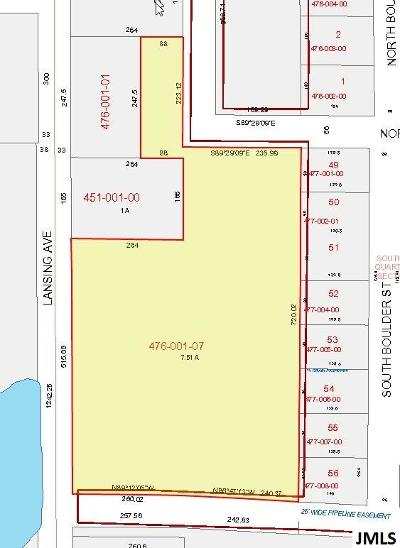 Jackson Commercial Lots & Land For Sale: Lansing Ave