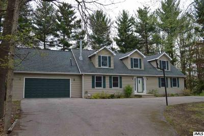 Grass Lake Single Family Home For Sale: 2455 Sarossy Lake Rd
