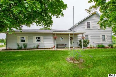 Lenawee County Single Family Home For Sale: 17156 Rome Rd