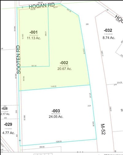 Manchester MI Residential Lots & Land For Sale: $827,000