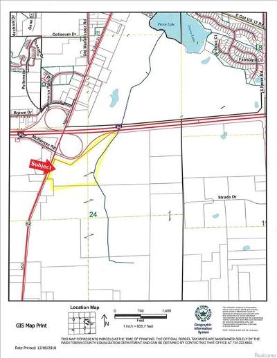 Jackson County, Lenawee County, Hillsdale County, Washtenaw County Residential Lots & Land For Sale: M 52
