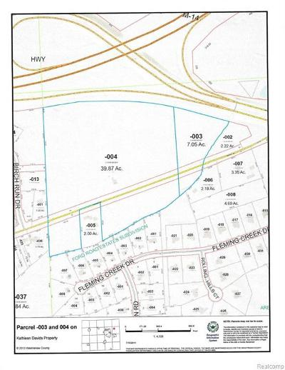 Ann Arbor MI Residential Lots & Land For Sale: $999,999