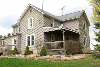 Adrian MI Single Family Home For Sale: $225,000