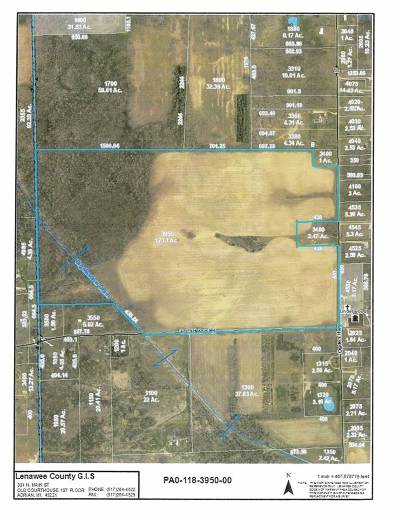 Adrian MI Residential Lots & Land For Sale: $433,000
