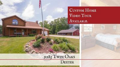 Washtenaw County Single Family Home For Sale: 9283 Twin Oaks