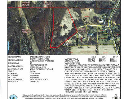 Jackson MI Residential Lots & Land For Sale: $64,900