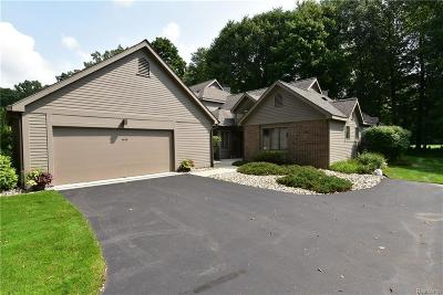 Washtenaw County Condo/Townhouse For Sale: 4638 Cottonwood Dr