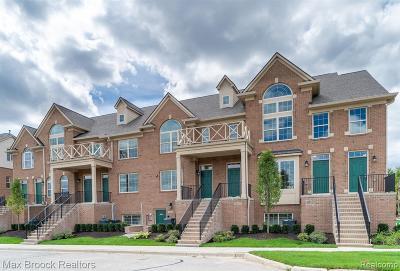 Northville Condo/Townhouse For Sale: 39807 Rockcrest Cir