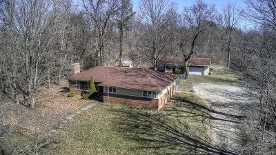 Washtenaw County Single Family Home For Sale: 8665 Brookville Rd