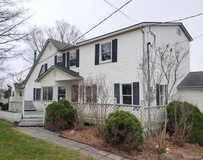 Washtenaw County Single Family Home For Sale: 9820 Five Mile Rd