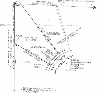 Residential Lots & Land For Sale: 10 Edda Marie Court