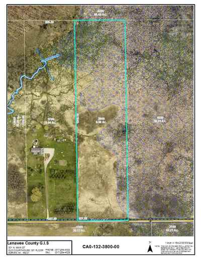 Onsted MI Residential Lots & Land For Sale: $52,900