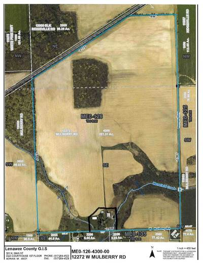 Morenci MI Residential Lots & Land For Sale: $1,200,000