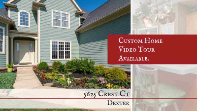 Dexter Single Family Home For Sale: 5625 Crest Ct
