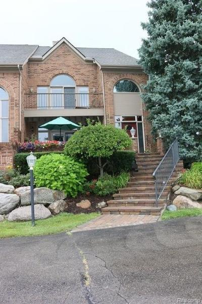 West Bloomfield Condo/Townhouse For Sale: 3856 Pine Lake Knoll Dr