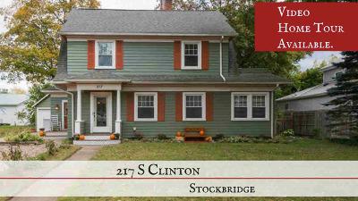 Stockbridge Single Family Home For Sale: 217 S Clinton