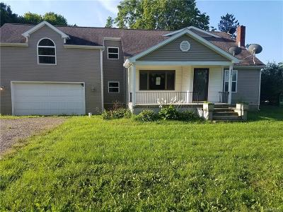 Single Family Home For Sale: 4241 Mount Morris Rd