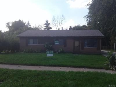 Single Family Home For Sale: 4522 Randolph St