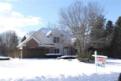 South Lyon Single Family Home For Sale: 10612 Shadow Valley Crt