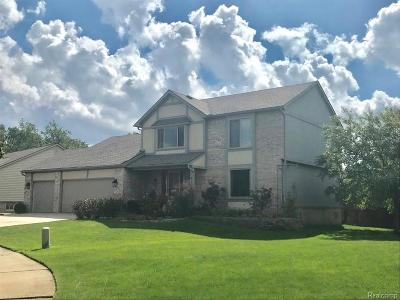 Wixom Single Family Home For Sale: 3365 Bennington Dr