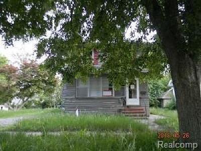 Jackson MI Single Family Home For Sale: $5,500