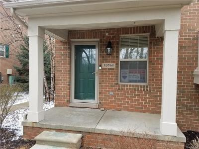 Northville Condo/Townhouse For Sale: 39764 Rockcrest Cir