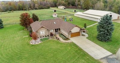 South Lyon Single Family Home For Sale: 9552 Wall Gene Rd