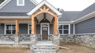 South Lyon Single Family Home For Sale: Lot 2 Creekside