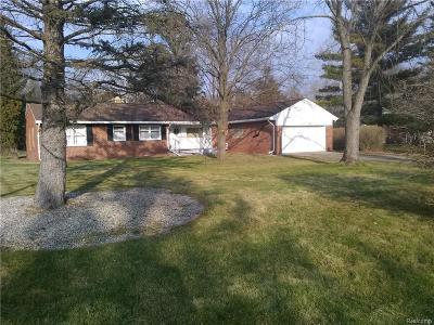 Farmington Hill Single Family Home For Sale: 28200 Shadylane Dr