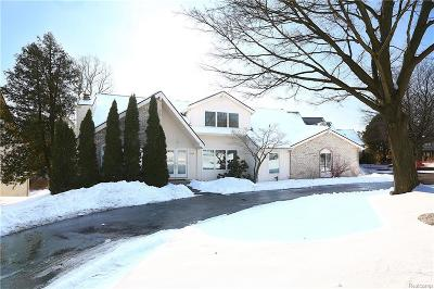 West Bloomfield Single Family Home For Sale: 4620 Wendrick Dr