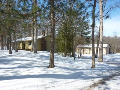Milford Single Family Home For Sale: 12305 Commerce Rd