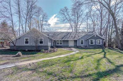 West Bloomfield Single Family Home For Sale: 6595 Bloomfield Ln