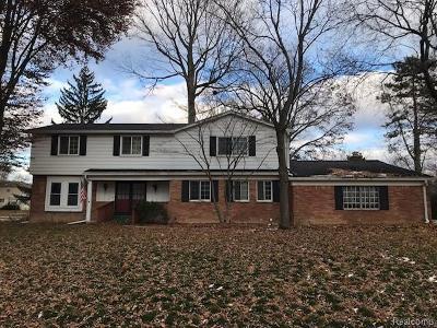 West Bloomfield Single Family Home For Sale: 7127 Edinborough