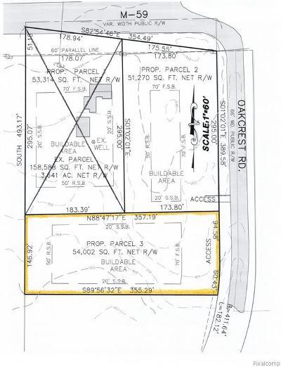 Residential Lots & Land For Sale: Oak Crest #3