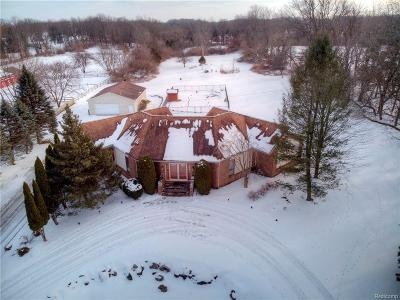 Milford Single Family Home For Sale: 2815 Pearson Rd