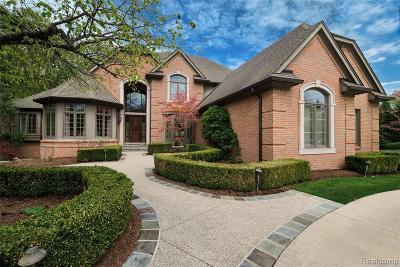 Northville Single Family Home For Sale: 17947 Cranbrook Crt
