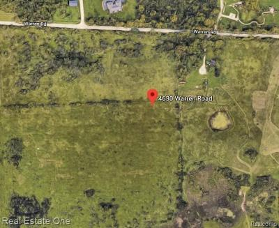 Ann Arbor Residential Lots & Land For Sale: 4630 Warren Rd