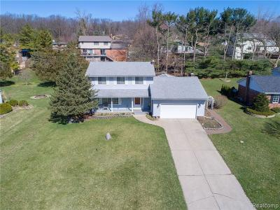 Brighton Single Family Home For Sale: 3200 Moraine Dr