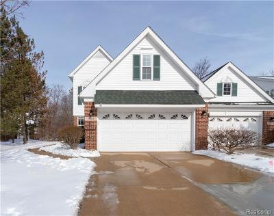Wixom Condo/Townhouse For Sale: 622 Shady Maple Dr