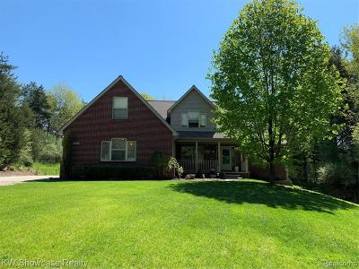 Brighton Single Family Home For Sale: 8519 Bishop Rd