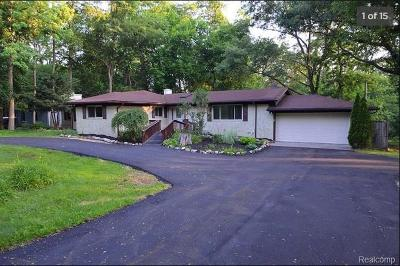 West Bloomfield Single Family Home For Sale: 6120 Commerce Road
