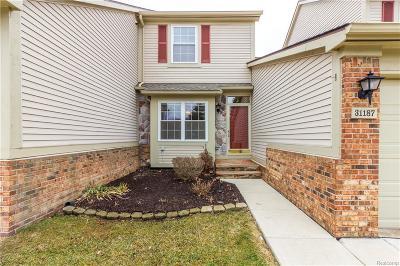 Novi Condo/Townhouse For Sale: 31187 Livingston Dr