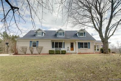 Washtenaw County Single Family Home For Sale: 7373 Hashley Rd
