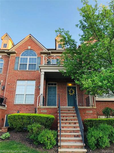 Northville Condo/Townhouse For Sale: 39623 Springwater Dr