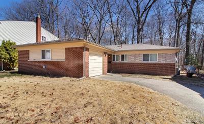 Farmington Hill Single Family Home For Sale: 23630 Barfield St