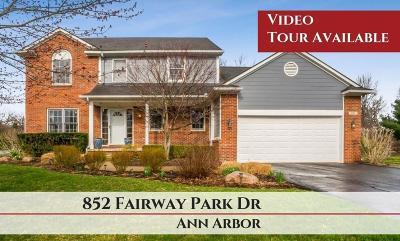 Ann Arbor Single Family Home For Sale: 852 Fairway Park Dr