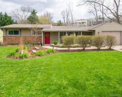 Milford Single Family Home For Sale: 1181 S Milford Rd