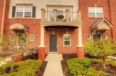 Wixom Condo/Townhouse For Sale: 236 Wright St